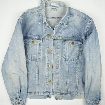 Vintage Guess Lightwash Destroyed 90s Denim Jacket