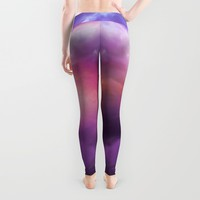 The Skies Are Painted (Cloud Galaxy) Leggings by Soaring Anchor Designs