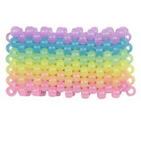 Glow in the Dark Horizontal Rainbow Kandi Cuff