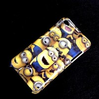 """Despicable Me Minion Plastic Hard Case Skin For Apple Ipod Touch 4 4th Itouch4 (Package includes: 1 X Screen Protector and 1X Stylus Pen image""""catgift_store"""") A"""