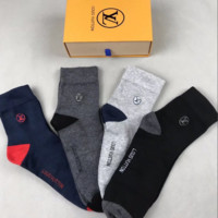 LV LOUIS VUITTON Embroidered Socks with Box