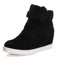 Hidden Heel Charm High Boots Height Increasing Women Sneakers Shoes