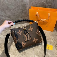 popular LV Women Leather monnogam Handbag Crossbody bags Shouldbag Bumbag