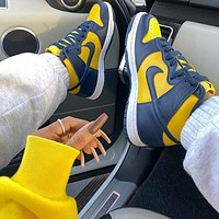 "Nike Dunk High ""Michigan"" Sneaker"