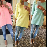 Plain Half-Sleeve Shirt