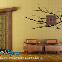 Vinyl Wall Decal Sticker Knobby Plant Tree Branches #AC143