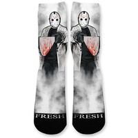 Jason Halloween Custom Athletic Fresh Socks