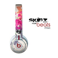 The Vintage WaterColor Droplets Skin for the Beats by Dre Mixr Headphones