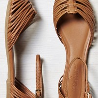 AEO Women's Strappy Ankle Wrapped Flat