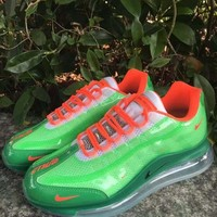 HCXX 19July 938 Nike Air Max 720-95 Heron Preston By You Transparent Flyknit Breathable Running Shoes green