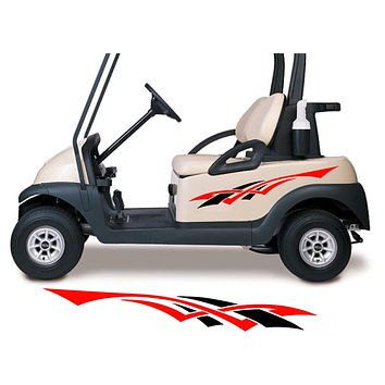 Two Color Golf Cart Decals Accessories Go Kart Stickers Side by Side Graphics GCA1288