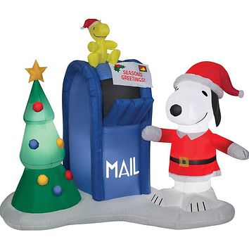 Airblown Snoopy & Woodstock with Mailbox Inflatable Scene - Peanuts
