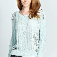 Grace Cable Pontelle Tape Yarn Jumper