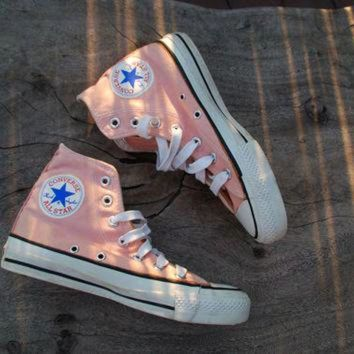 CREYONB Vintage Converse All Star Chucks Peach/Coral Rare Color Skate Shoe Sneakers 70s or 80s