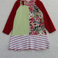 Girl's Dress Size 2 made from Recycled T Shirts, Upcycled Tshirt Dress for 2 Year Old, Toddler Dress made from Upcycled T Shirts