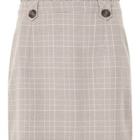 Frill Waist Checked Mini Skirt - Skirts - Clothing