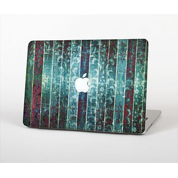 The Aged Blue Victorian Striped Wall Skin for the Apple MacBook Air 13""