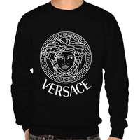 Men Versace Crew Neck Sweatshirt screen printing on Quality American Brand apparel S-3XL