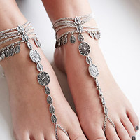 House of Blaise Filigree Foot Chain Set