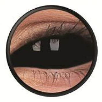 ColourVue Black Scleral Full Eye Coloured Contacts (SabreTooth)