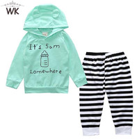 Unisex long sleeve hooded Outerwear Jacket + Striped Pants outfit
