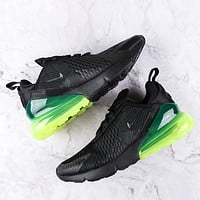 Nike Air Max 270 Fashion New Hook Running Sports Leisure Shoes Men Black