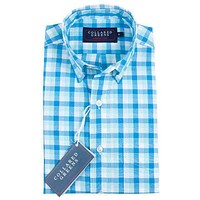 The Cary Button Down Shirt in Blue, Teal, & White by Collared Greens