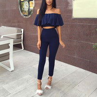 Casual Slim Outfits Playsuit