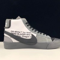 "[ Free  Shipping ]Off-White x Nike Blazer Mid ""All Hallows Eve""  AA3832-008 Basketball Shoes"