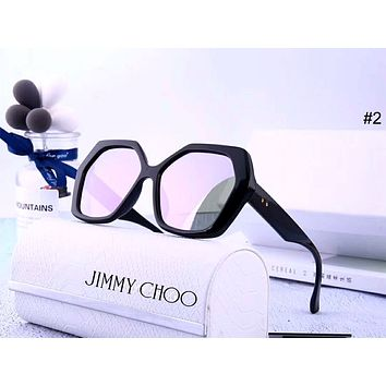 Jimmy Choo Tide brand female polygon large frame color film polarized sunglasses #2
