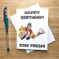 YEAOH GREETINGS FRESH PRINCE OF BEL AIR BIRTHDAY CARD