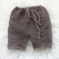 match from 20 colors.Crochet/Knitting mohair baby short  pant .Photography Props- Baby Crochet Mohair pants
