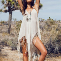 Sexy Women Crochet Bathing Suit Swimwear Bikini Cover up Beach Dress Swimsuit = 1955881412