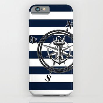 Navy Striped Nautica iPhone & iPod Case by Nicklas Gustafsson