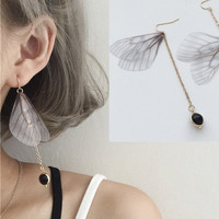 1 pair boho butterfly wing earrings Goth Punk Steampunk Fashion Sexy