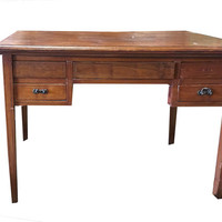 Indian British Colonial Study Table Desk Console Tables Drawer India Furniture