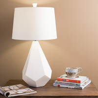 Marvelous Multi-faced White Ceramic Lamp   Overstock.com Shopping - The Best Deals on Table Lamps