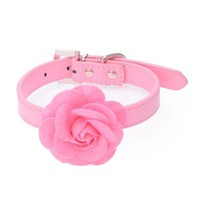 Rose Flower Neck Strap Cat Collars