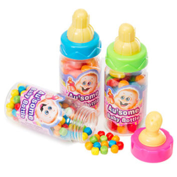 Candy Filled Baby Bottles: 12-Piece Display