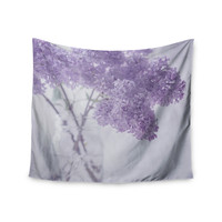 """Suzanne Harford """"Lilacs"""" Purple Floral Wall Tapestry"""