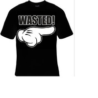 cartoon hand wasted t-shirt cool funny t-shirts cute gift present humor tee shirt