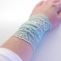 Trendy MINT Green Lace Wrist Cuff Fashion accessory Women Teens MANY COLORS