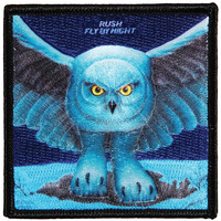 Rush Men's Fly By Night Embroidered Patch Blue