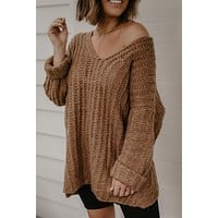 Always In Style Sweater - Chestnut
