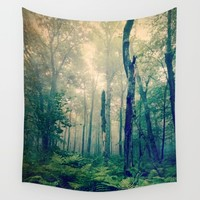Walk to the Light Wall Tapestry by Olivia Joy StClaire