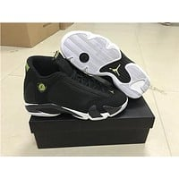 "Air Jordan 14 ""Indiglo"" Basketball Shoes 41---47"