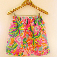 Lilly Pulitzer Lulu FLAMINGO Skirts Resort 2014