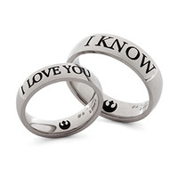 I Love You / I Know Rings