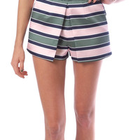 Charming Brocade Stripe Shorts - Multi Stripe