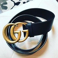 GUCCI Belt Stylish men and women show personalized belt-1